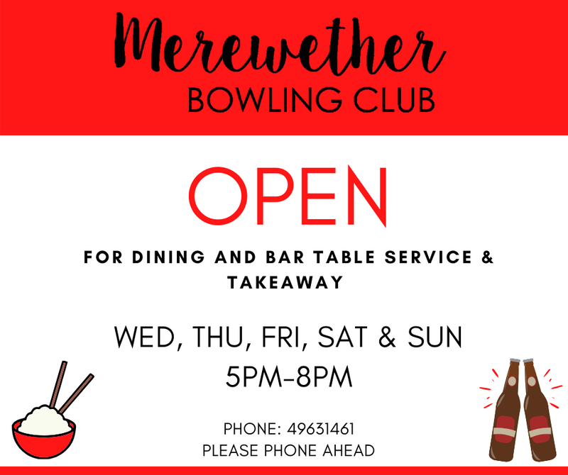 OPEN FOR RESTAURANT DINING & TAKEAWAYS